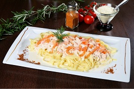 Linguines aux saumon Pizza Sicilia Cambrai